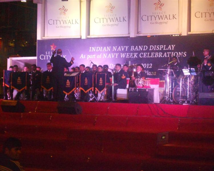 Indian Navy Band Desplay